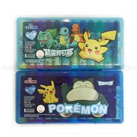Pokemon:精靈寶可夢到寶可夢 皮卡丘 卡比獸 彩色筆 12色 可水洗 包裝隨機出 文具 正版日本授權台灣製造 * JustGirl *