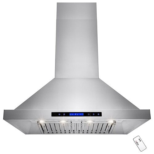 "36"" Stainless Steel Wall Mount Range Hood Touch Control Halogen Light Lamp Baffle Filter 0"