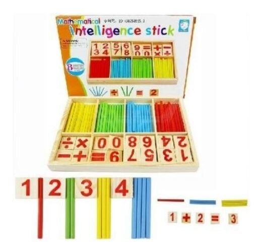 【省錢博士】彩盒裝木製兒童益智玩具小棒遊戲盒 / 數字學習棒