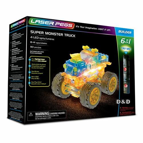《LASERPEGS》極光積木-六合一怪獸卡車