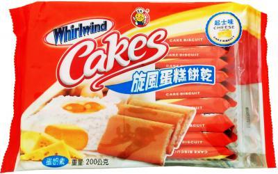 【橘町五丁目】日日旺 旋風蛋糕餅乾-起士味(蛋奶素)200g