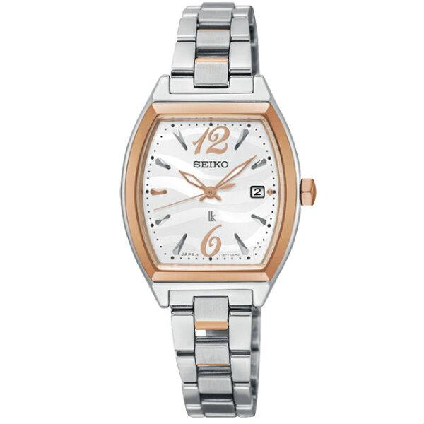 Seiko精工錶Lukia系列V137-0CE0C(SUT358J1)雙色款熱愛生活時尚太陽能腕錶26mm
