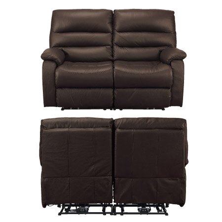 ◎全皮2人用頂級電動可躺沙發 BELIEVER2 DBR NITORI宜得利家居 2