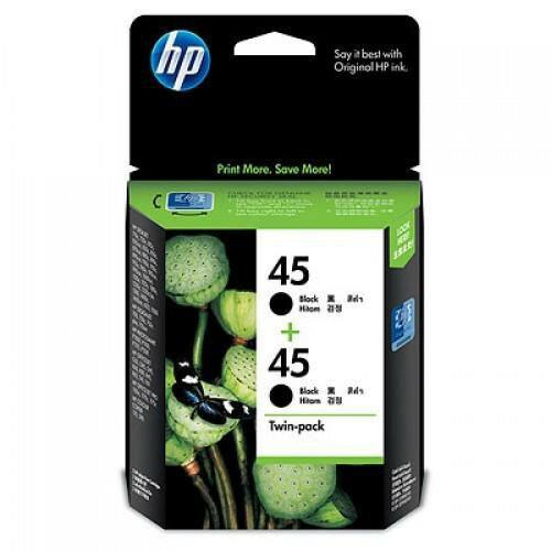 【超值雙包裝】HP NO.45 原廠黑色墨水匣 CC625AA 適用DJ7xxC/85xC/970c/1120c