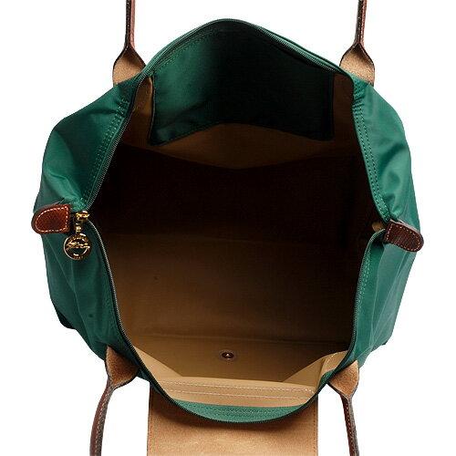 [2605-S號]國外Outlet代購正品 法國巴黎 Longchamp  長柄 購物袋防水尼龍手提肩背水餃包 墨綠色 3