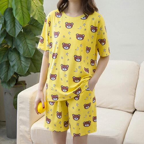 純棉短袖短褲家居服兩件套裝(2色XL~4XL)【OREAD】 0