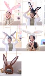 東區派對-動物帽子/兔子裝/朱迪兔/長耳兔頭套/長耳兔帽子/黑色兔耳/粉色兔/灰色兔
