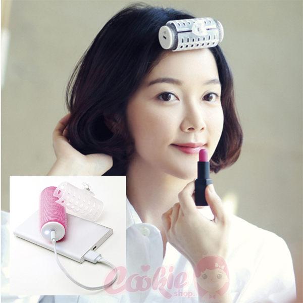 韓國 Tinaroll USB 充電行動式捲髮器/捲髮棒(2色)【庫奇小舖】