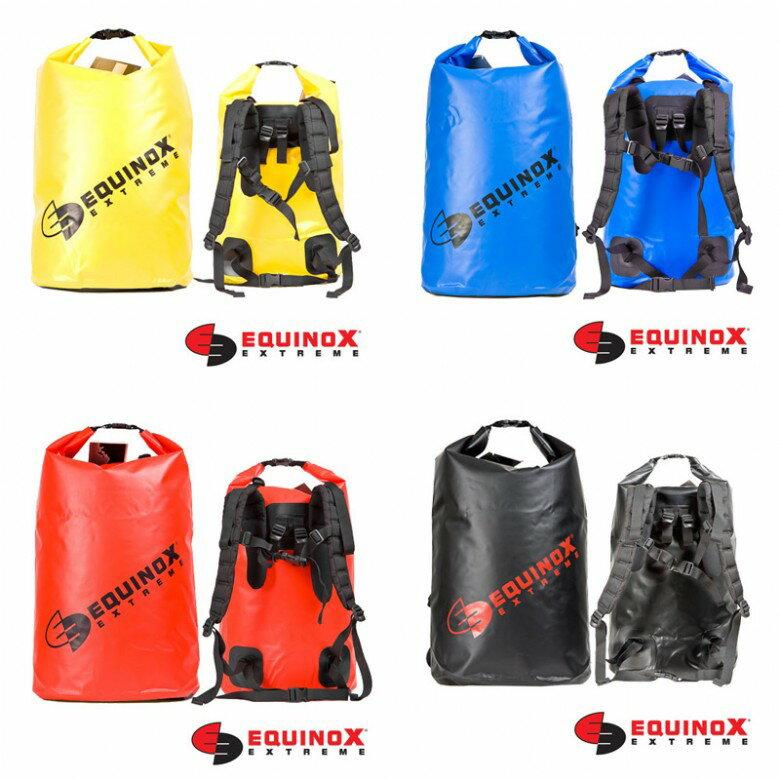 【露營趣】美國 EQUINOX 70L (素色雙肩) 防水背包 防水包 防水袋 登山背包 溯溪背包 釣魚 泛舟 46064