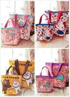 凱蒂貓週邊商品推薦到可愛卡通圖樣帆布手提袋(1大+1小) 便當袋 購物袋【包包阿者西】
