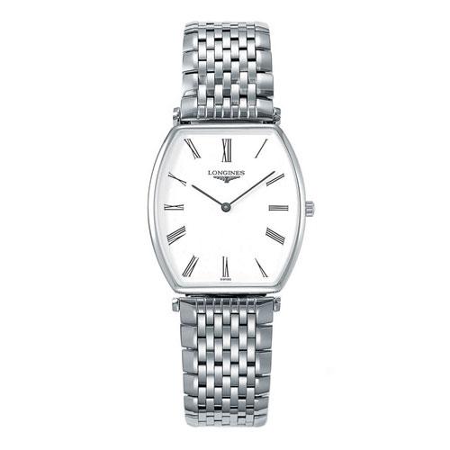 LONGINES L47054116嘉嵐石英酒桶超薄腕錶/白面29.7*32.5mm