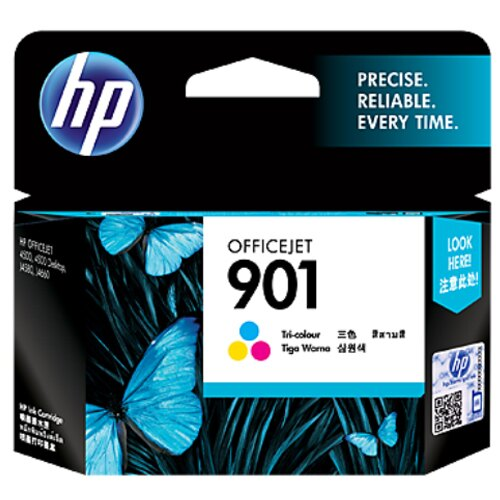 【HP 墨水匣】CC656AA/NO.901 原廠彩色墨水匣