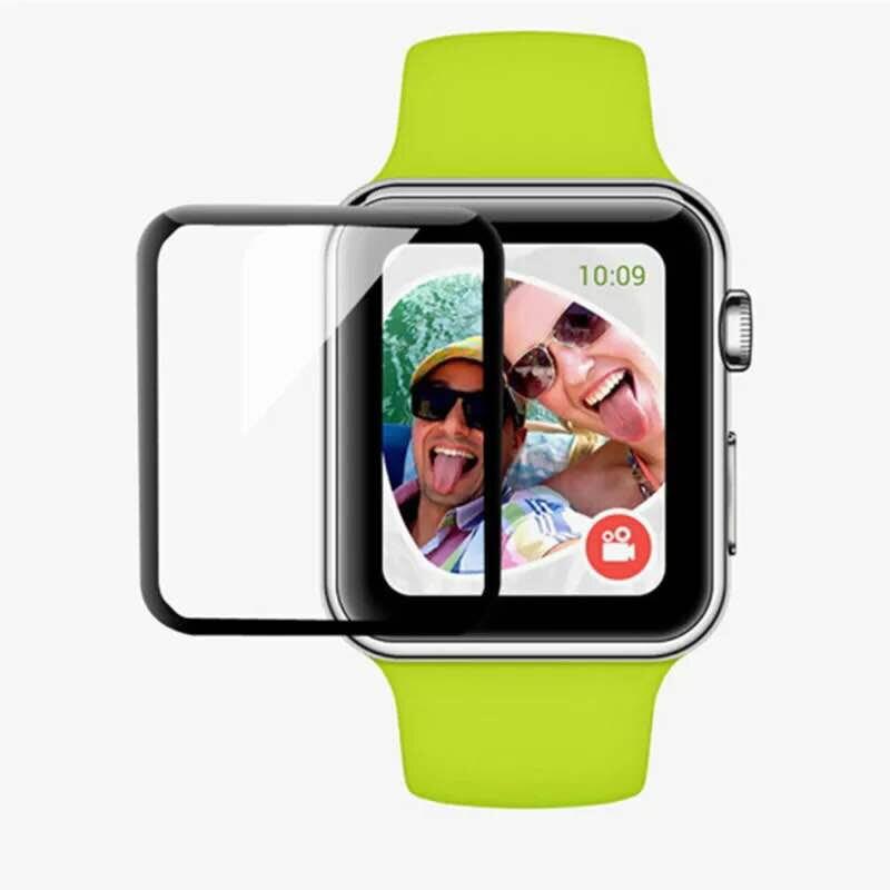 現貨 apple watch 蘋果手錶 保護貼 38mm 42mm 1/2/3代 不碎邊全膠防水 滿版 3D曲面保護膜