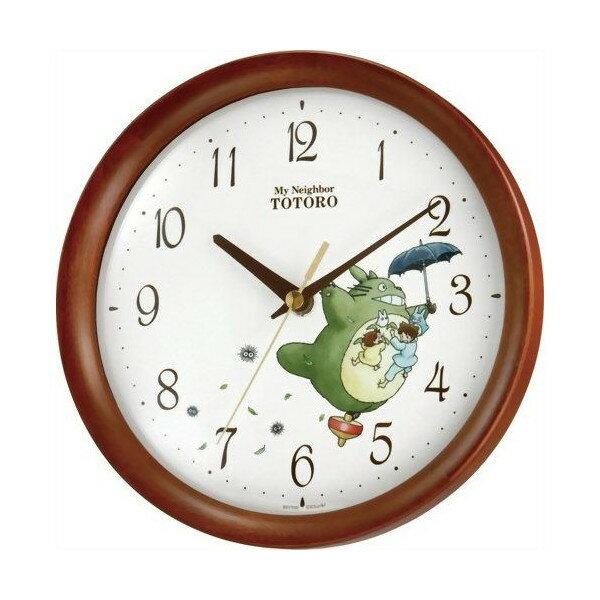 【真愛日本】10021200001龍貓拿傘飛天時鐘-茶色 龍貓 TOTORO 豆豆龍 居家 擺飾 掛鐘 壁鐘 正品 限量 預購