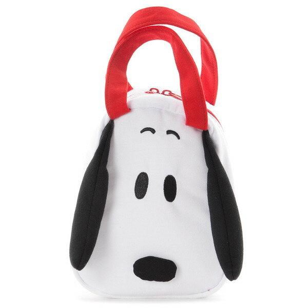 真愛日本:【真愛日本】17051900012造型綿布電繡小提袋-SN大頭史奴比史努比SNOOPY便當餐袋手提包包