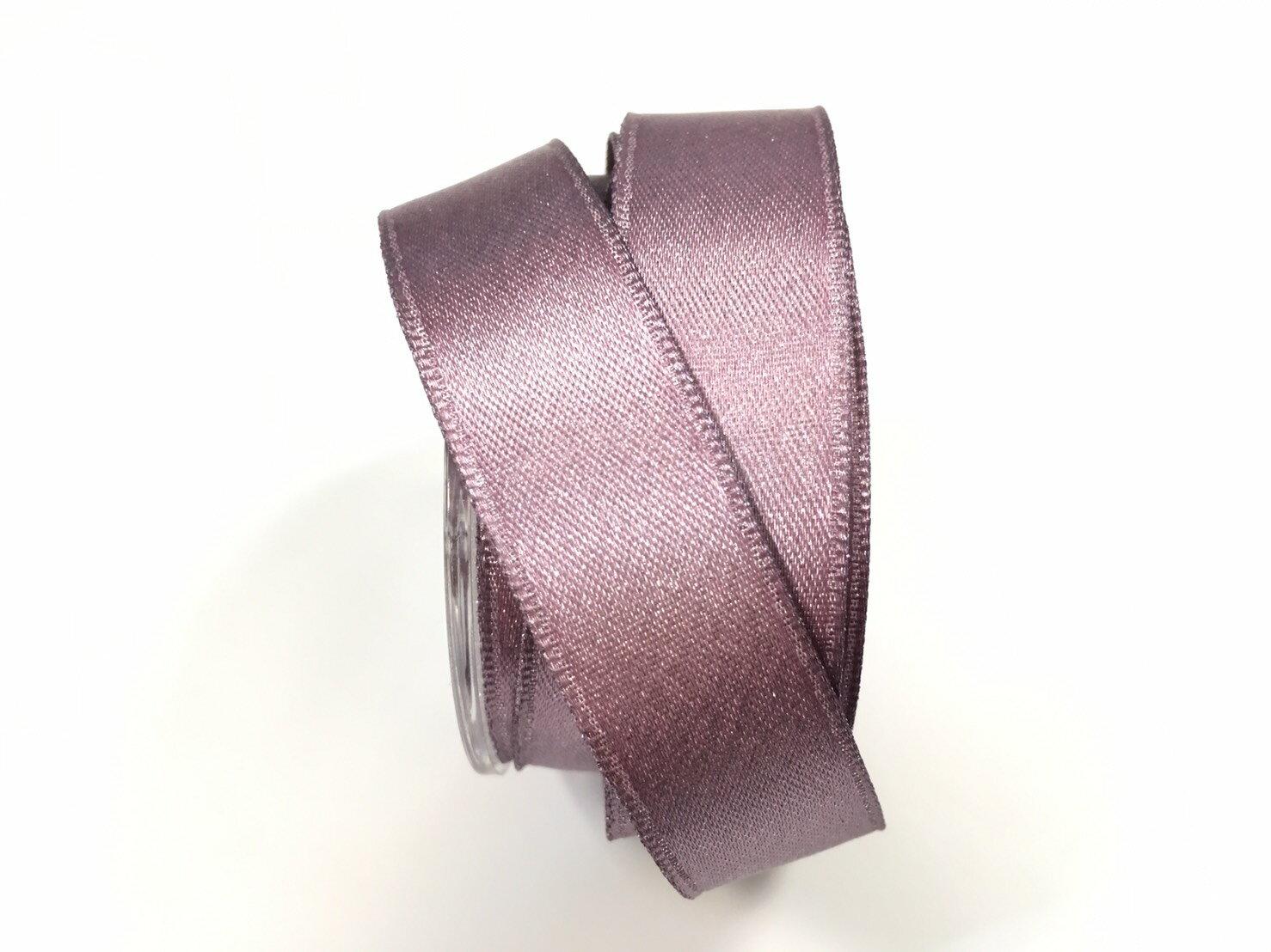 【Crystal Rose緞帶專賣店】金粉緞面鐵絲帶  3碼 (10色) 5