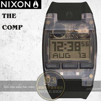 NIXON 實體店The COMP浪花潮流腕錶ALL BLACK公司貨A408-001/極限運動
