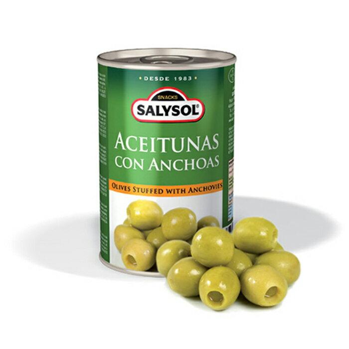 西班牙SALYSOL鯷魚橄欖 120g/罐