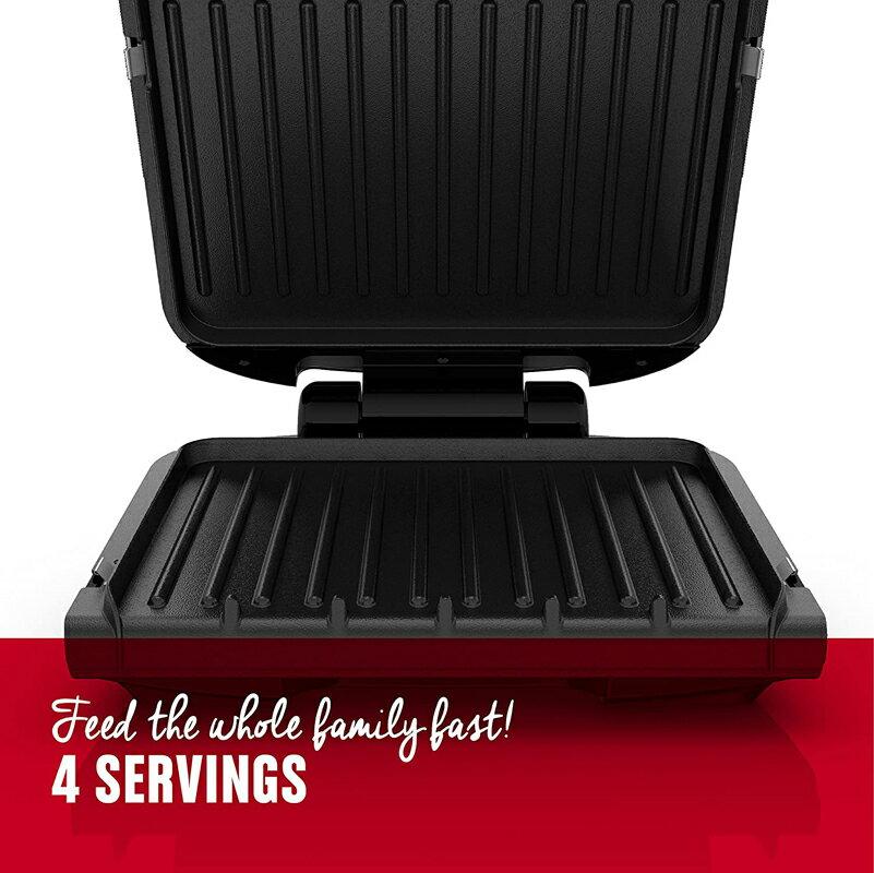 [9美國直購] 燒烤爐 George Foreman 4-Serving Removable Plate Grill and Panini Press, Black, GRP1060B