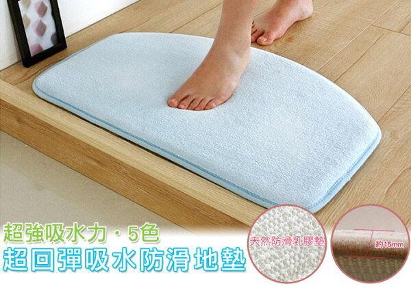 回彈優質珊瑚絨厚實半圓地墊弧形半圓收納地毯腳踏墊吸水地墊✤朵拉伊露✤