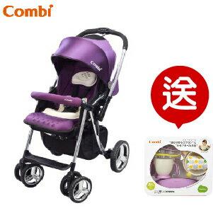 (預購2月到貨) 【本月贈$1300圍兜學習餐具組】日本【Combi】Mega Ride DX 嬰兒手推車-紫(1~48個月) 0