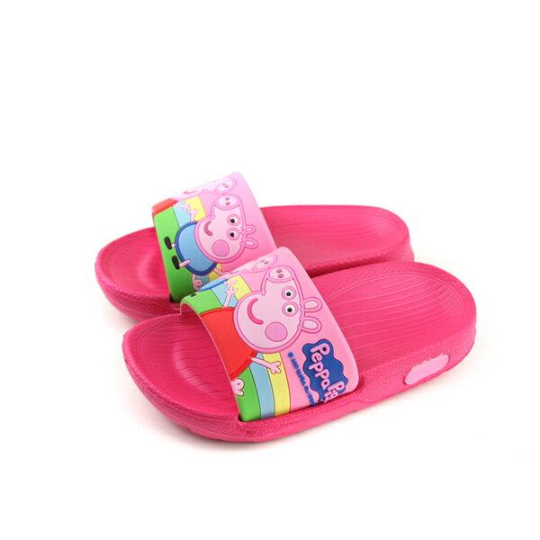 粉紅豬小妹PeppaPig拖鞋防水雨天童鞋桃紅色小童PG0042no735
