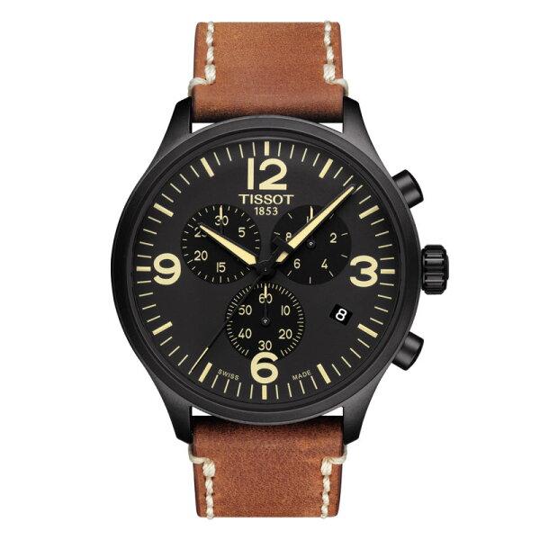 TISSOT天梭錶CHRONOXLT1166173605700時尚計時腕錶黑面45mm