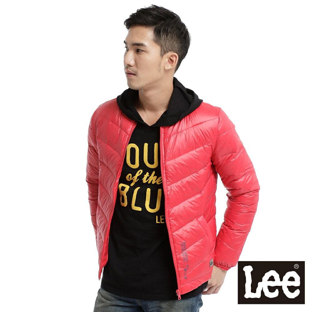 【單一價↘899】Lee 都市騎士 輕量羽絨拉鍊保暖外套-中性款(紅)