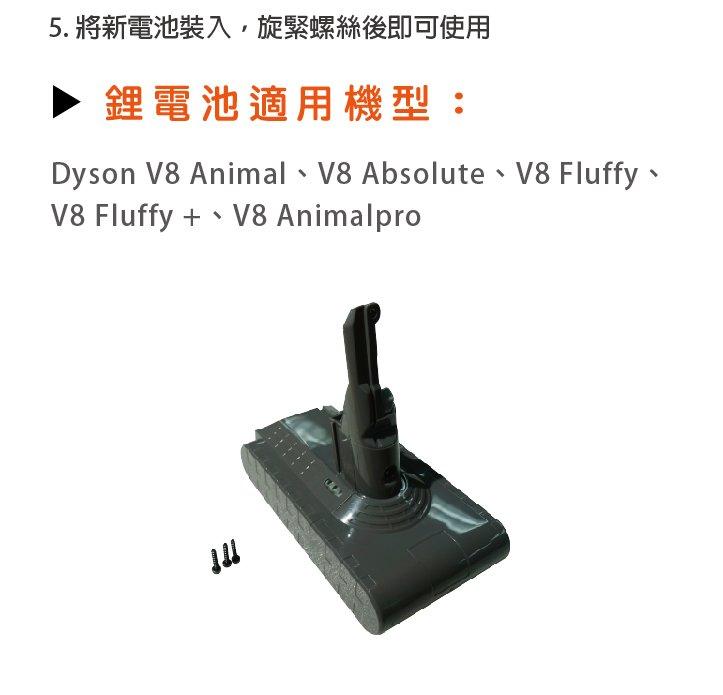 Dyson V8,SV10|31000mAh 無線吸塵器副廠電池 DC8230 for V8 - ANewPow