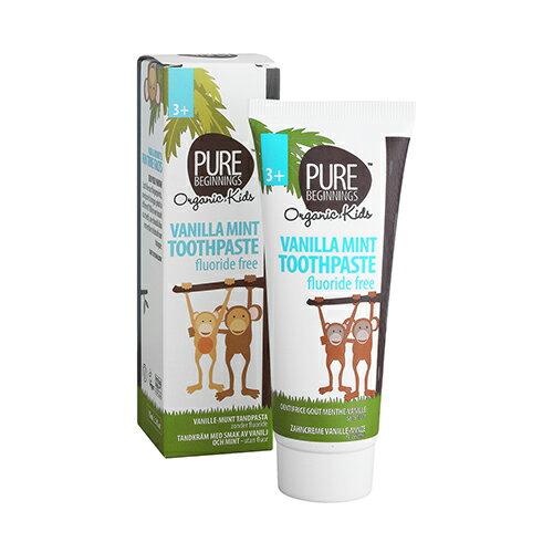 PureBeginnings香香木糖醇牙膏(無氟)香草薄荷(3歲以上專用)75ml🌈7LIVE🌈