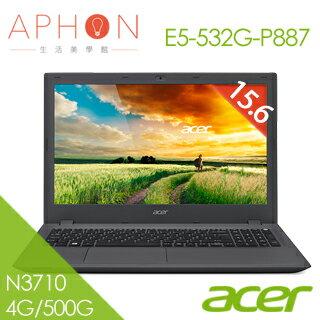 【Aphon生活美學館】acer E5-532G-P887 15.6吋 2G獨顯 Win10筆電(N3710/4G/500G)