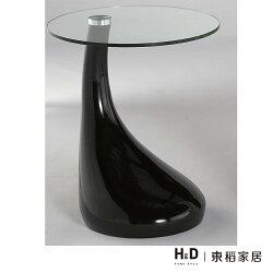 梵妮玻璃黑色圓几 / H&D / 日本MODERN DECO