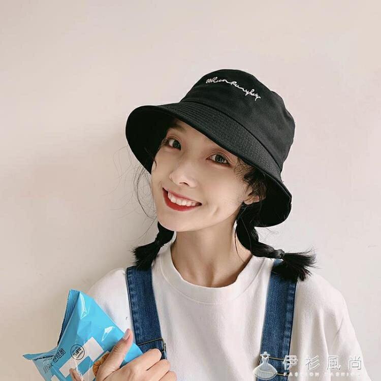 帽子女夏天韓版潮百搭漁夫帽日系夏季薄款網紅款太陽防曬遮陽帽