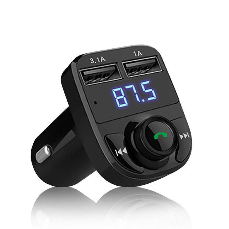 【老車變新車】HD5 車用MP3 MP3發射器 可通話 邊聽音樂邊充電 導航 電壓檢測 雙USB孔車充 藍芽/SD卡/隨身碟音樂播放 AUX 3.1A快速充電 (12V-24V車款可用)