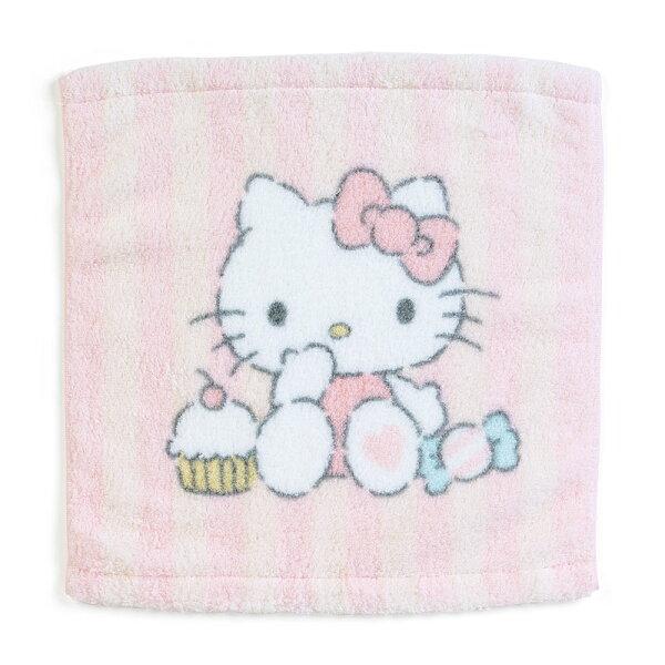【真愛日本】18052300032純綿無撚系方巾-KT甜點ACP凱蒂貓KITTY盥洗用品方巾擦手巾