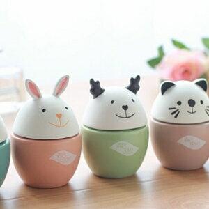 美麗大街【BF114E2E963】創意生活可愛蛋蛋形卡通動物陶瓷香薰瓶香水瓶