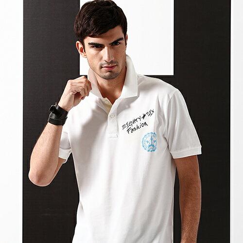 男裝 春夏 讓你的男人夏天一點都不無聊 白色夏日氛圍POLO上衣款 ^~ 白色 M.L.X