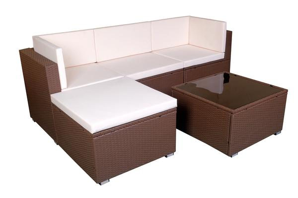 mcombo: Mcombo 5 pcs Outdoor Patio Brown Wicker Sofa Chair Garden Sectional  Furniture Set w/ Cushion Cover 6089-0410 | Rakuten.com