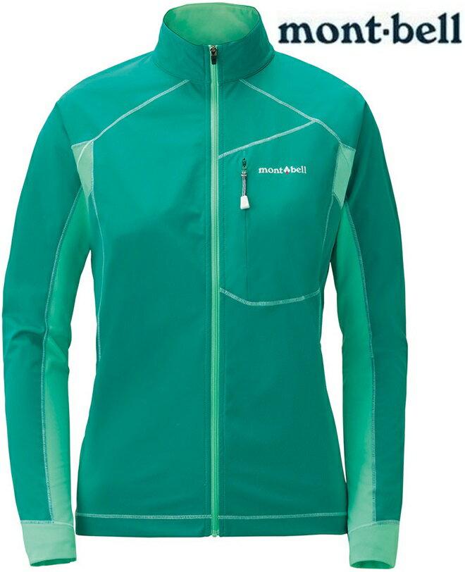 Mont-Bell 彈性跑步風衣/薄軟殼外套 女款軟殼夾克 Cross runner 1106642 寶石綠EM