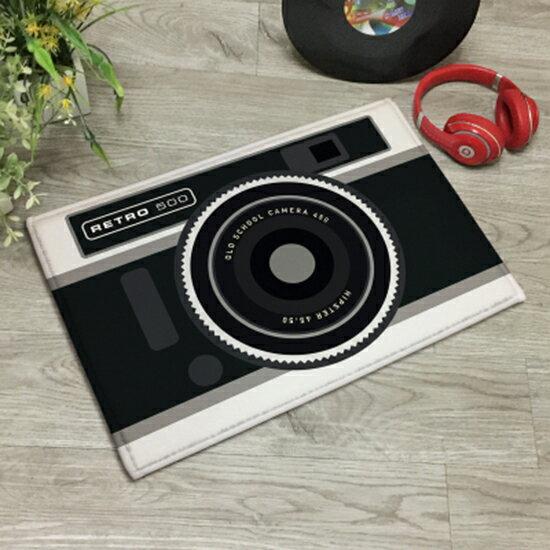 ♚MYCOLOR♚創意攝影黑白相機地墊現代臥室客廳廚房吸水腳墊防滑墊門廳地毯【V04-1】