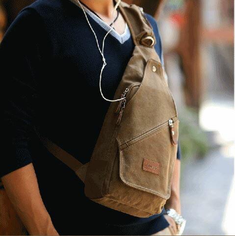 <br/><br/> ☆帆布包 胸包-百搭個性休閒男側背包54f4【現貨配送】【米蘭精品】<br/><br/>