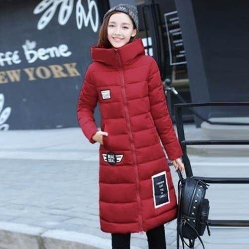 ☆羽絨外套 長版夾克-流行時尚字母連帽女外套73it36【零碼出清】【米蘭精品】