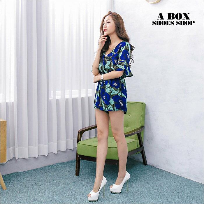 格子舖*【KF2598-3】韓國製造 絕美女神 仿蛇皮紋皮革 14CM金屬細高跟鞋 魚口跟鞋 2色 2