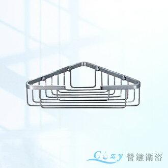 小巧衛浴廚房配件(砂光)質感 單層轉角網籃置物籃 置物架 (正ST304不鏽鋼 ) 浴室配件 YC808