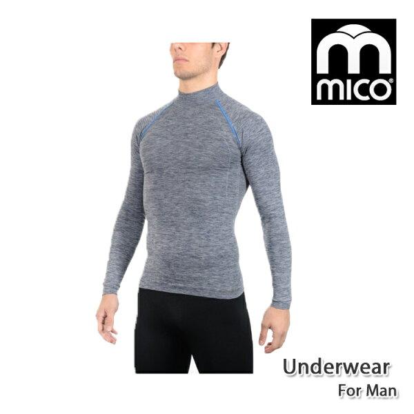 MICO男無縫單向導濕高領保暖衣1890城市綠洲(機能、保暖、長袖上衣、內著)