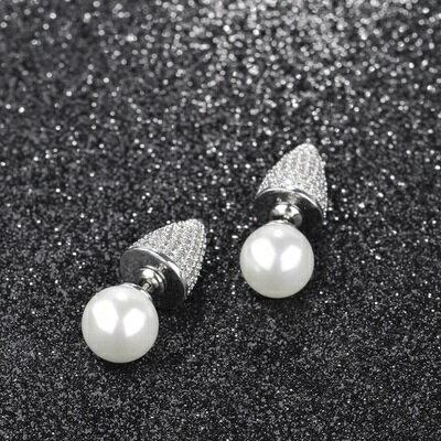 925純銀耳環鑲鑽耳飾~ 獨特 生日情人節 女飾品73hz69~ ~~米蘭 ~