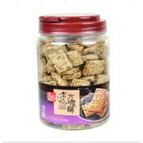 老楊芝麻鹹酥方塊酥450公克【愛買】