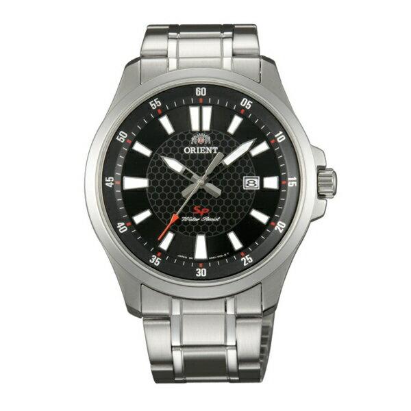 Orient 東方錶(FUNE1003B)運動風石英腕錶/黑面42mm