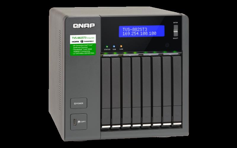 QNAP 威廉通 TVS-882ST3-i7-16G 8Bay NAS 網路儲存伺服器 3
