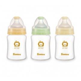 Simba小獅王辛巴 - 超輕鑽寬口雙凹玻璃小奶瓶 150ml